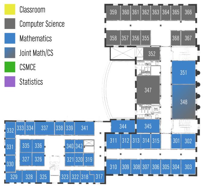 Avery Floor 3 | Department of Mathematics