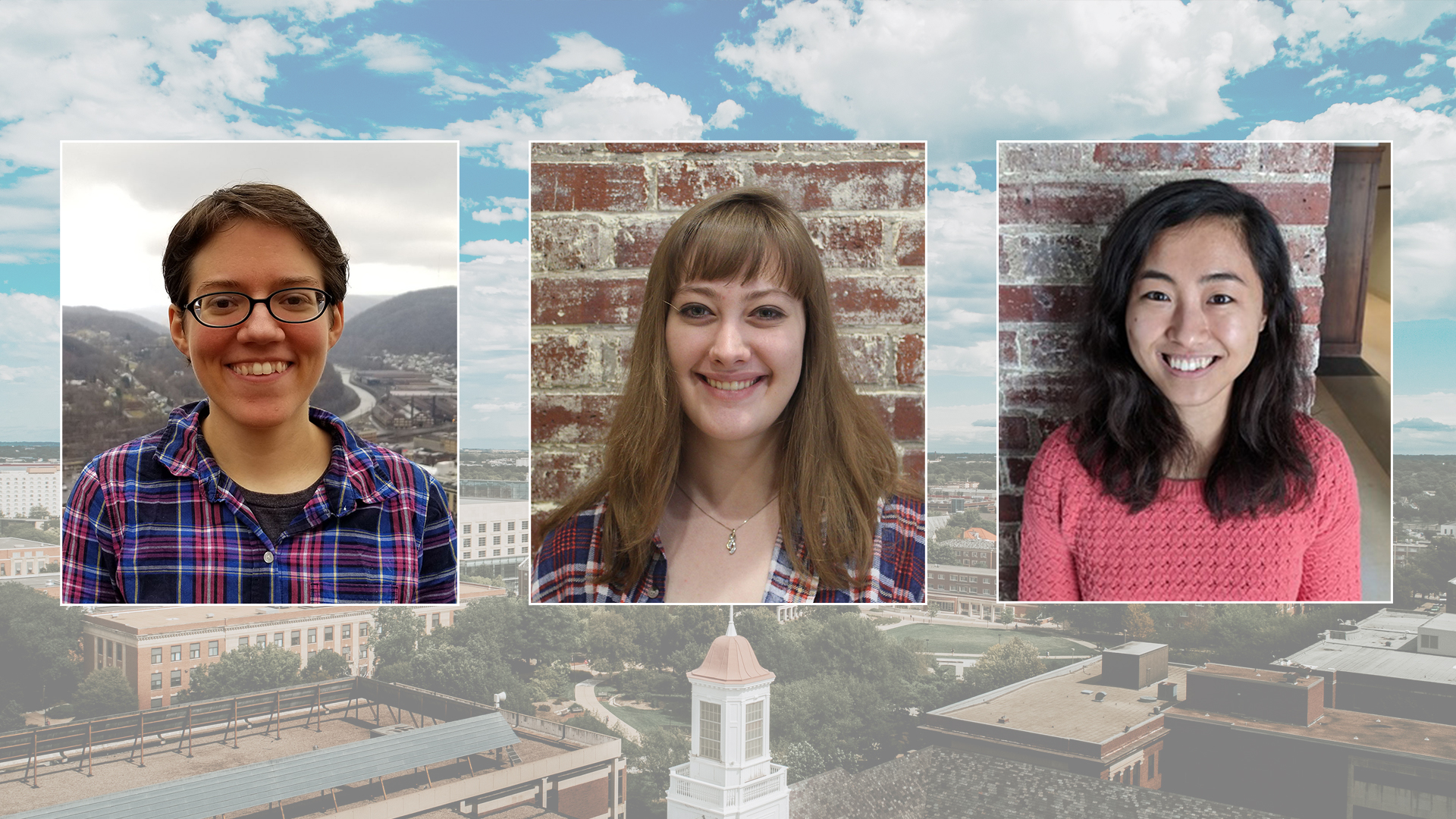 May 2021 graduates (from left to right) Juliana Bukoski, Elizabeth Carlson and Su Ji Hong will bring the number of women who have earned the Ph.D. from the Nebraska mathematics department to 100
