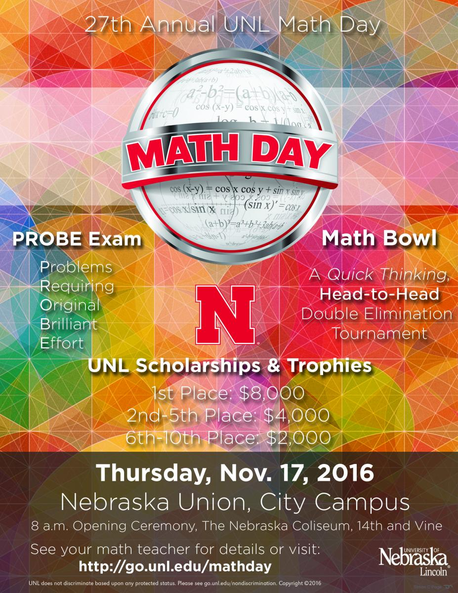 2016 Math Day Poster