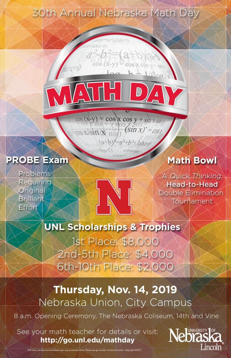 2019 Math Day Poster