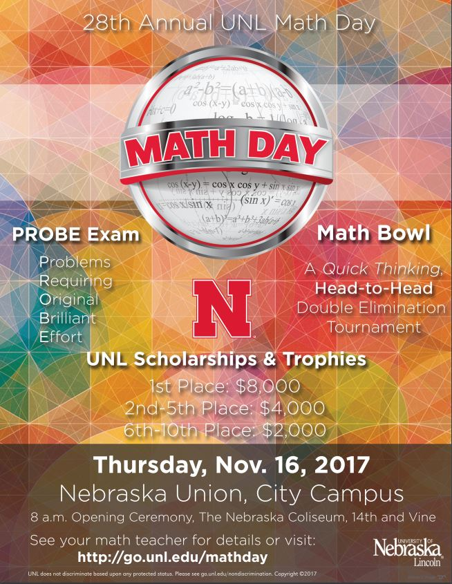 2017 Math Day Poster