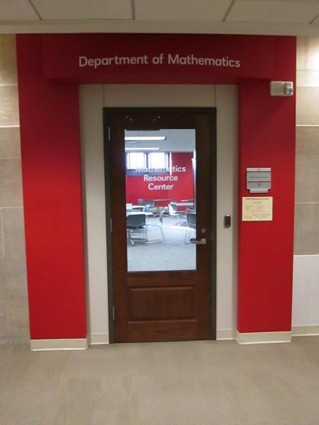 Math Resource Center door